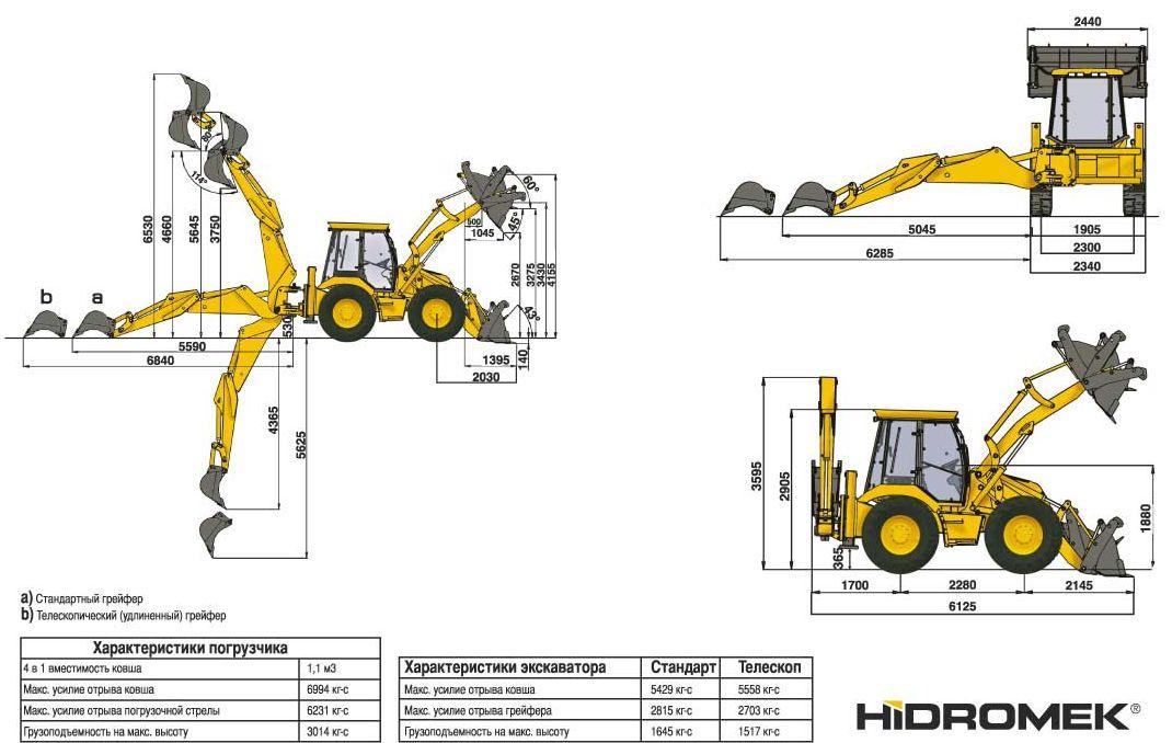 Аренда погрузчика-экскаватора HIDROMEK HMK 102S
